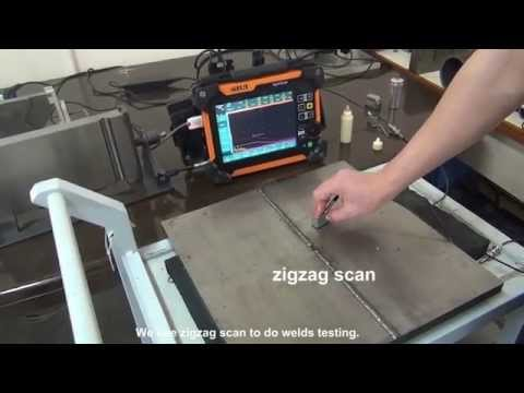 SIUI Phased Array Flaw Detector SyncScan Tests Welds in Conventional UT Mode