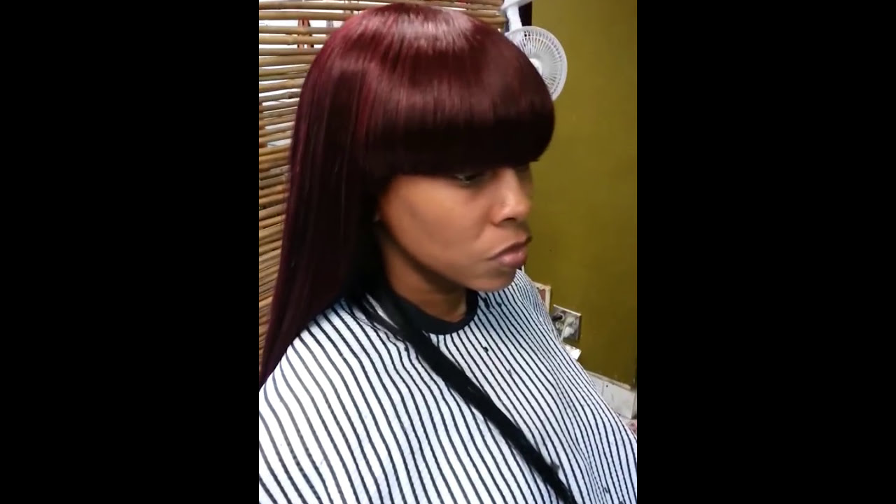 Black China Bang Quick Weave Jada Hair Junky Youtube