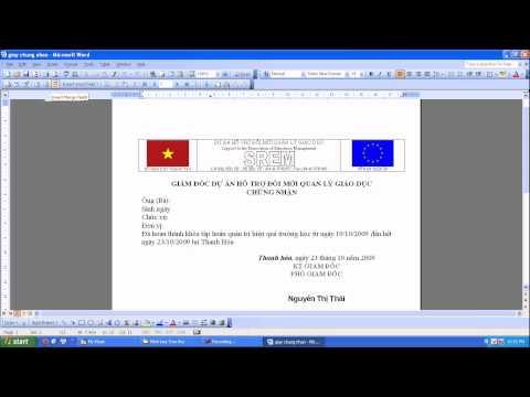 Huong dan su dung chuc nang tron thu trong Office 2003