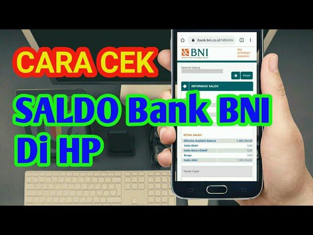 Cara Cek Saldo Bni Lewat Hp Mobile Banking Bni Youtube