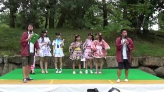 2016.9.18 丸亀城シルバーフェスタ きみともキャンディ・CoCoデコル 胸...