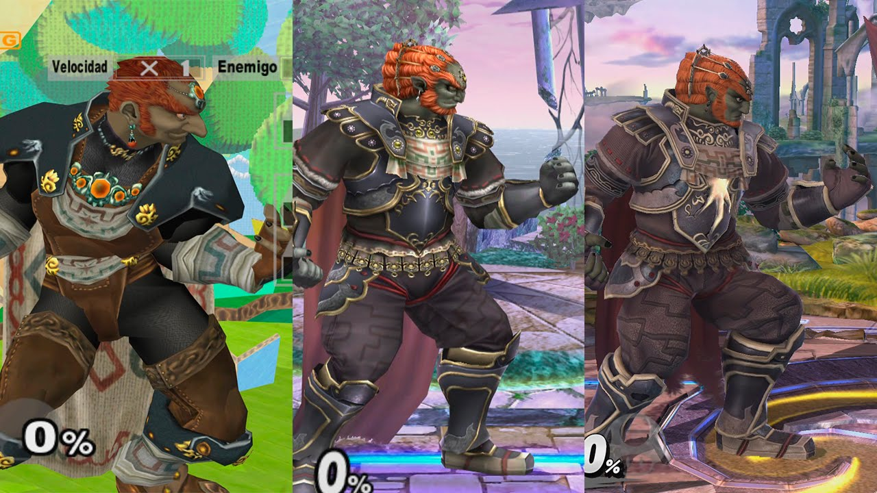 Super Smash Bros Wii U Ganondorf Evolution