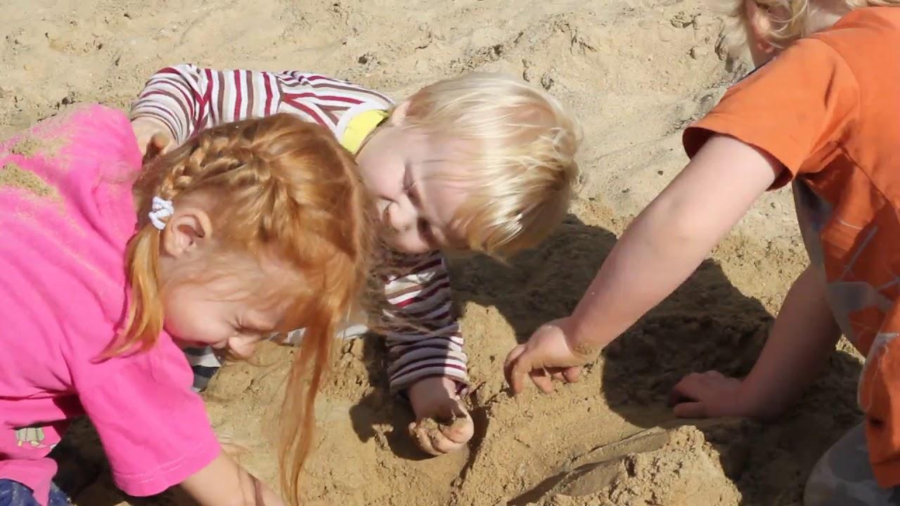 Картинка дерутся в песочнице