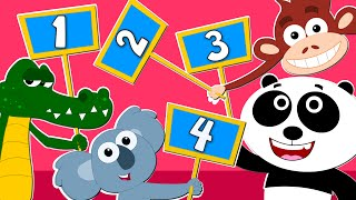 Animals Learn To Count | Animal Sound Song | Learn Animals For Children | Kids Tv Nursery Rhymes