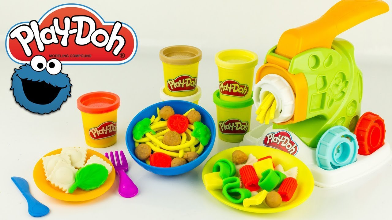 Pâte à modeler Fabrique à Pâtes Play Doh Pasta Noodle Kitchen Cookie Monster Hasbro Jouet Toy ...