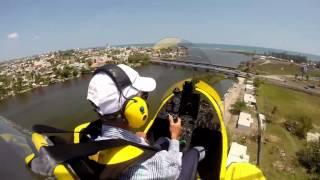 MTO SPORT Gyrocopter Flying around the Jamapa River in Boca del Río, Veracruz-México.