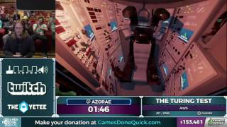 The Turing Test by azorae in 38:38 - Awesome Games Done Quick 2017 - Part 15