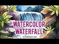 How to paint a waterfall in watercolor - Alex Green