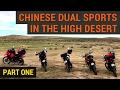 Chinese Dual Sports in the California High Desert: Part One - CSC TT250 - CSC RX3 - Kawasaki KLR650