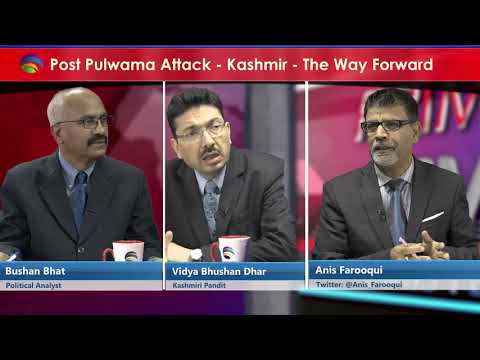 Prime Time with Anis Farooqui - Post Pulwama Attack - Kashmir a way forward
