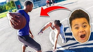 1v1 BASKETBALL AGAINST TRASHTALKER IRL!! HE BROKE MY ANKLES!! (LOSER GETS EXTREME PUNISHMENT!)