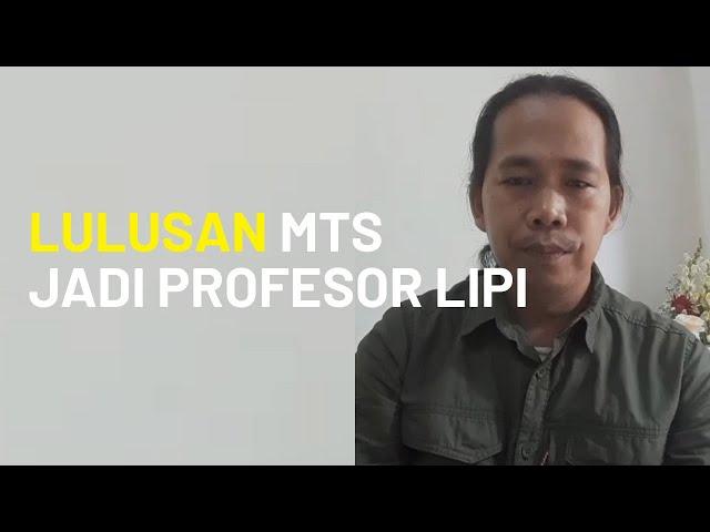 Jadi Inspirasi Kawula Muda dan Bikin Bangga Kabupaten Cirebon, Pria Lulusan MTs Jadi Profesor LIPI