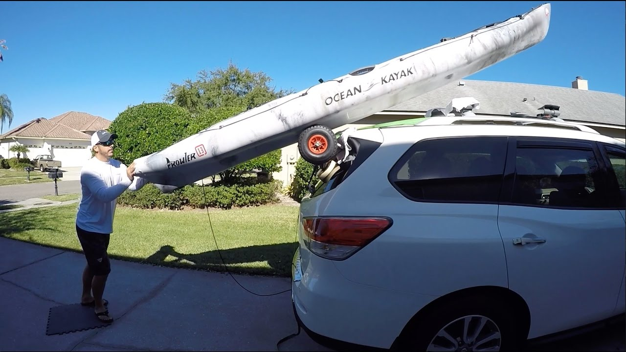 Car Roof Rack >> How To Load A Kayak By Yourself (Simple SUV Trick) - YouTube