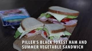 Recipe: Pillers Black Forest Ham and Summer Vegetable Sandwich