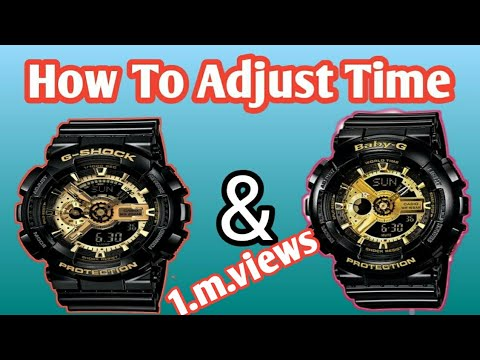 How To Adjust Time G-Shock & Baby G. Watch  I Will Show You
