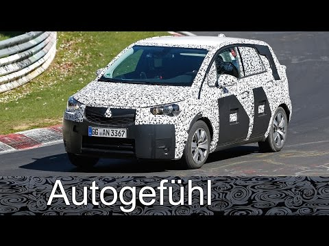 Vauxhall Opel Meriva going crossover - new generation spy shots camo car Erlkönig all-new neu