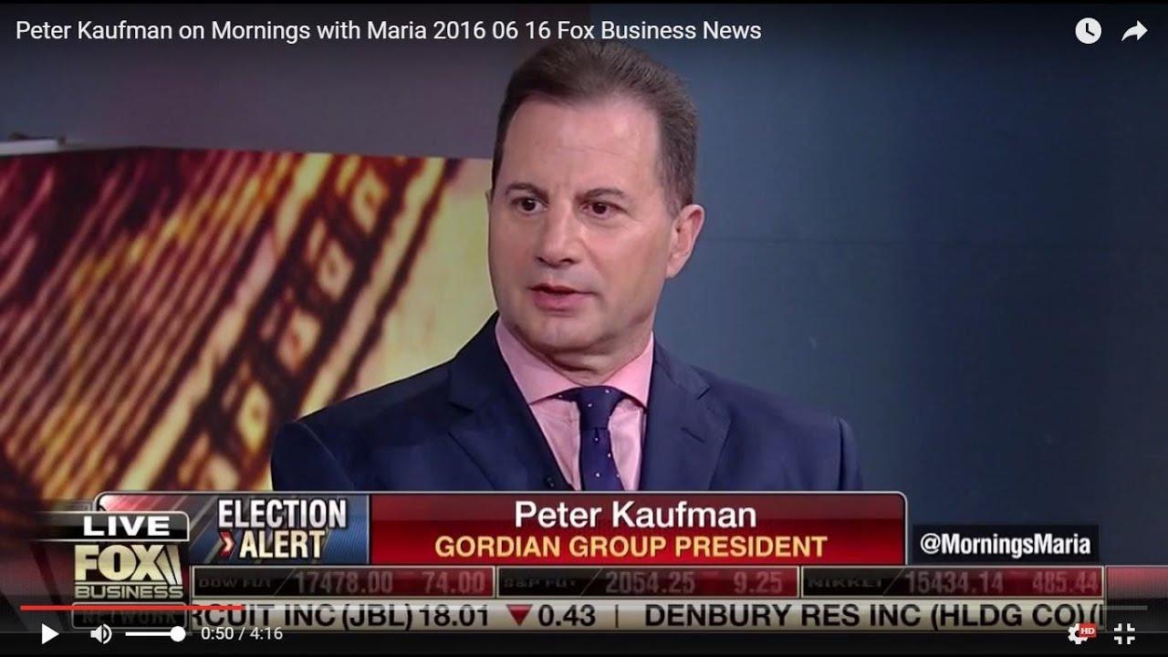 Peter Kaufman on Fox Business News,