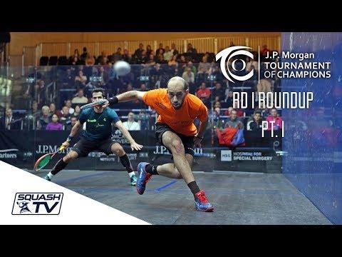 Squash: Tournament of Champions 2018 - Men\'s Rd 1 Roundup [Pt.1]