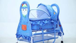 Baybee Baby Cat Multipurpose Swing Cradle cum Bassinet with Detachable Carry Cot Assembling Video