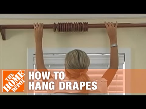 How to Hang Drapes: Pleated Window Panels