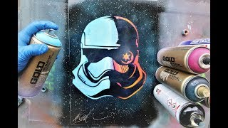 Stormtrooper Star Wars solder GLOW IN DARK - SPRAY PAINT ART - by Skech