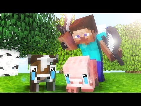 All Minecraft Life  - CrazyDek Minecraft animation