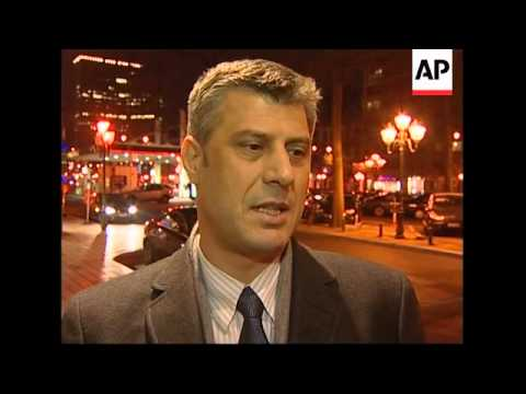 Kosovo delegation in Brussels for talks, Thaci reax