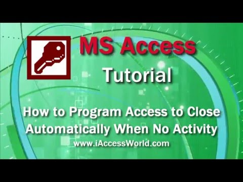 How to  Program Access to Close Automatically when No Activity