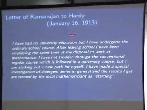 Michel Waldschmidt's Lecture on Ramanujan