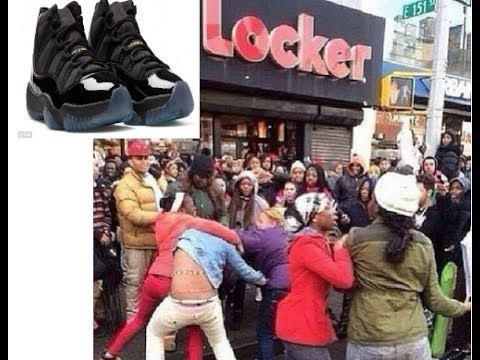 75e7787ee32af0 Shots fired and chaos breaks out over the new Jordan Gamma Blue 11 ...