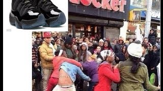 Shots fired and chaos breaks out over the new Jordan Gamma Blue 11