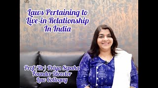 Laws Pertaining to Live-in Relationship in India