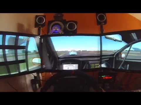 rFacto 2 Renault Clio - Silverstone Onboard Head Cam
