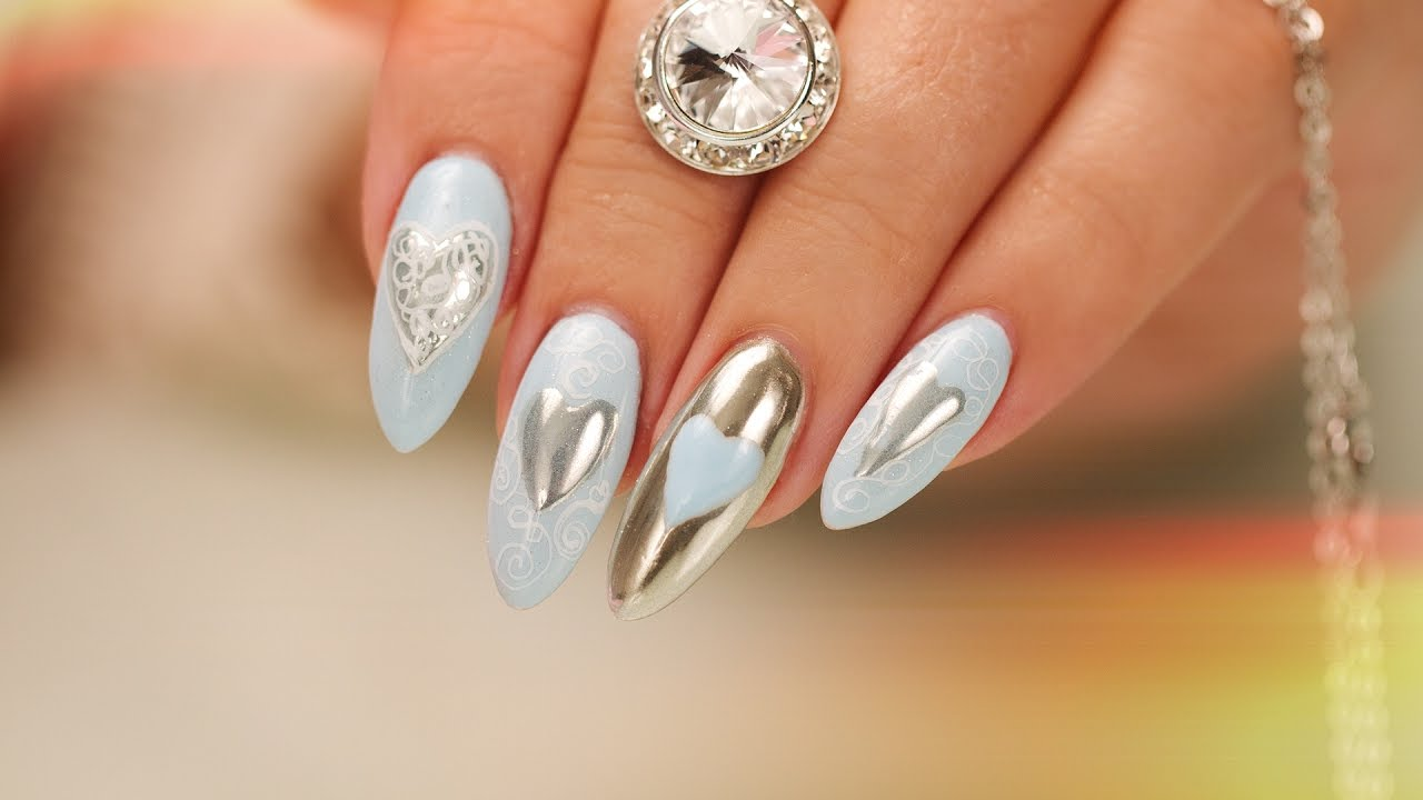 chrome hearts and calligraphy nail
