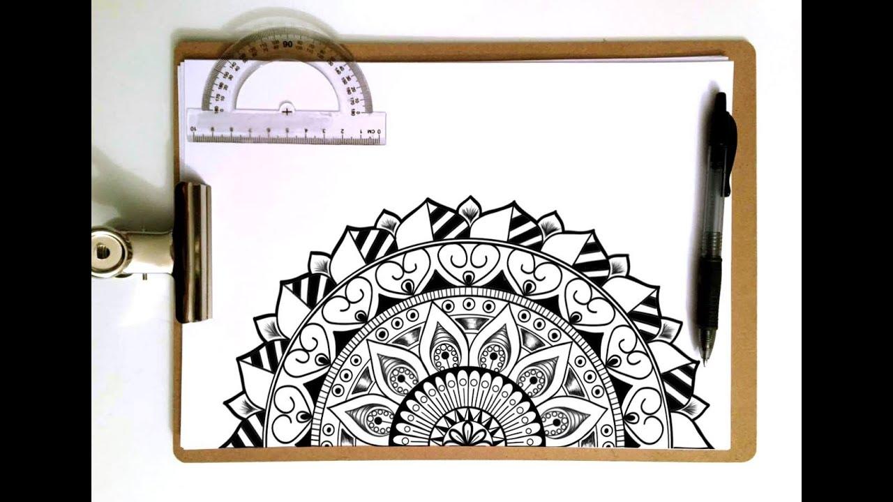 Speed Drawing - Half Mandala - YouTube - photo#11