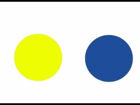 Yellow and Blue make Green - YouTube