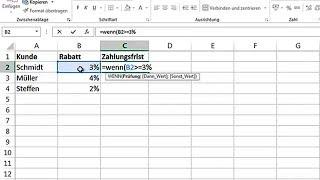 Excel 2010/2013: Wenn-Dann-Sonst Funktion - einfach erklärt  (Tutorial, Anleitung, Deutsch, Formel)
