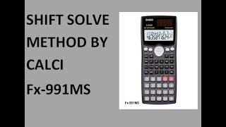 Shift Solve Using Fx-991MS