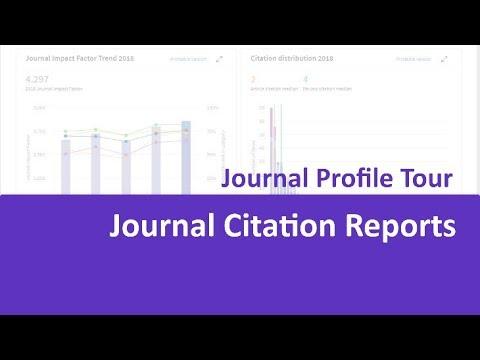 Journal Citation Reports Journal Profile Tour Youtube