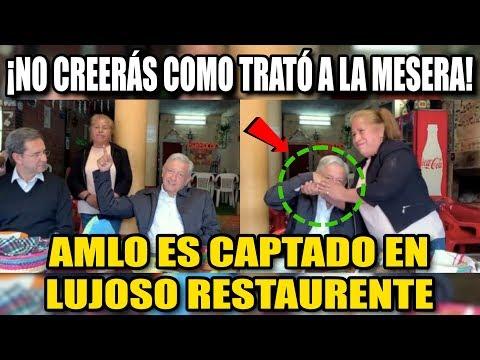 AMLO COMIÓ EN UNA FONDlTA, ¡NO CREERÁS COMO TRATÓ A LA MESERA!