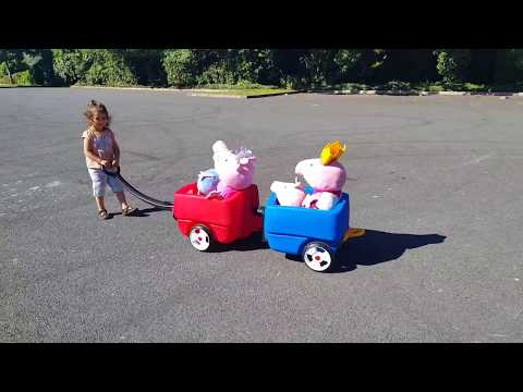 Thumbnail: Peppa Pig Toys Wagon Ride / Peppa Pig Song Learn Colours
