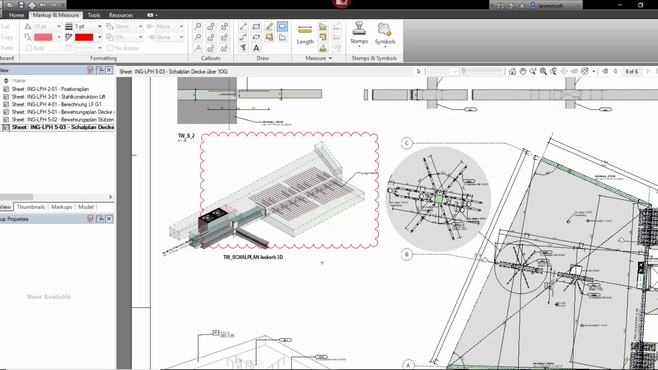 Revit Red Line Markup with Autodesk Design Review