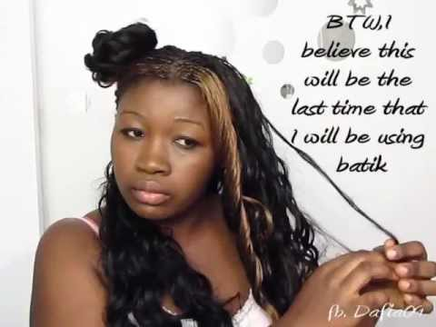 Washing Curly Synthetic Braids - YouTube