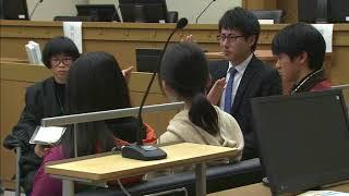 裁判を身近に 岡山地裁で中学生が模擬裁判