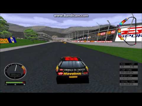NASCAR Road Racing (PC) Gameplay (Kenny Irwin Jr) (Bridgeport Speedway) (5 Laps)