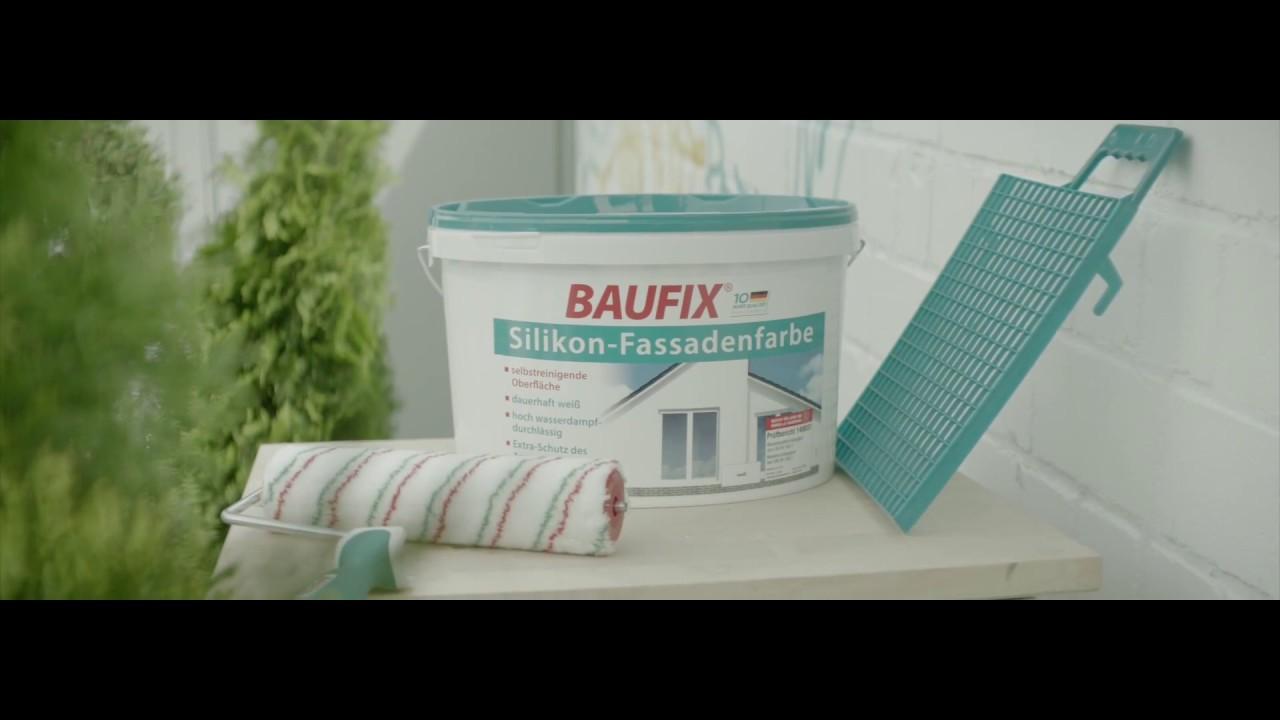 baufix silikon fassadenfarbe youtube. Black Bedroom Furniture Sets. Home Design Ideas