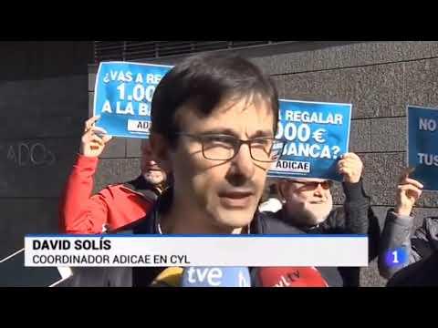 ¿Vas a regalar 1.000€ a la banca? Campaña presentada en Valladolid