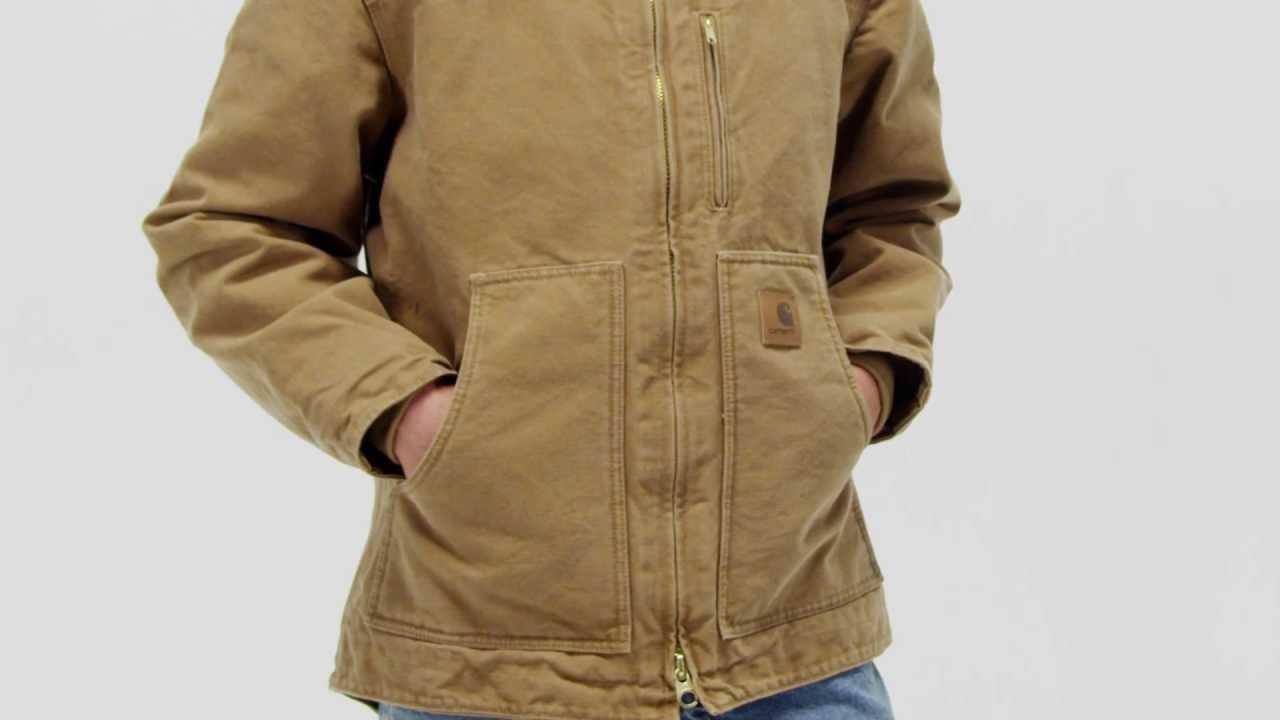 Carhartt Mens Ridge Coat Sherpa Lined Sandstone C61