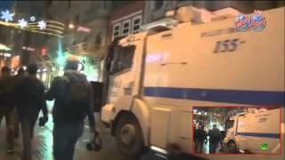 الشرطة التركية تطارد المتظاهرين فى شوارع ميدان التقسيم