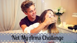 Not My Arms Challenge With My Brother | Zoella
